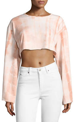 Missguided Tie-Dye Cropped Sweatshirt