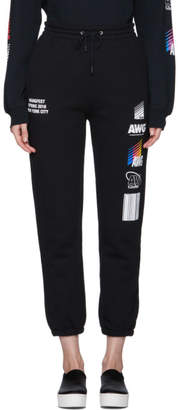 Alexander Wang SSENSE Exclusive Black Sponsored Lounge Pants