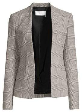 BOSS Jalesta Glen Check Stretch Open Jacket