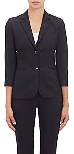 The Row Women's Essentials Two-Button Schoolboy Jacket - Black
