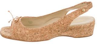 Taryn Rose Cork Slingback Sandals $75 thestylecure.com