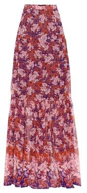 Giambattista Valli Floral-printed silk maxi skirt