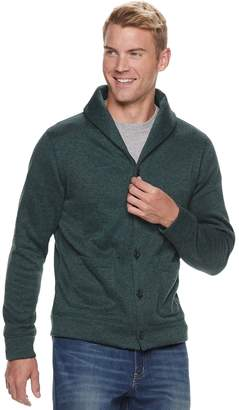 Sonoma Goods For Life Men's SONOMA Goods for Life Supersoft Modern-Fit Sweater Fleece Shawl-Collar Cardigan