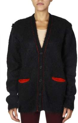 Maison Margiela Blue/red Mohair Cardigan