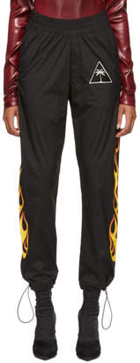Palm Angels Black Palms and Flames Lounge Pants
