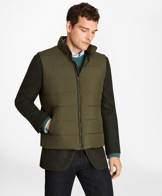 Brooks Brothers Water-Repellent Tech Twill Quilted Vest