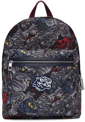 Kenzo Grey Flying Tiger Backpack $360 thestylecure.com