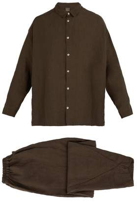 Once Milano - X Toogood Linen Pyjama Set - Mens - Brown