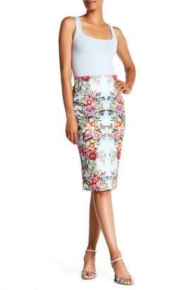 ECI Floral Midi Skirt