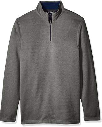 Izod Men's Tall Saltwater Solid 1/4 Zip Sweater