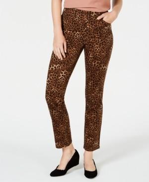 Charter Club Lexington Animal-Print Tummy Control Jeans, Created for Macy's