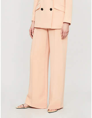 Diane von Furstenberg Kiersten high-rise flared crepe trousers