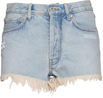 39bae4ecbb1 White Ripped Denim Shorts - ShopStyle Canada