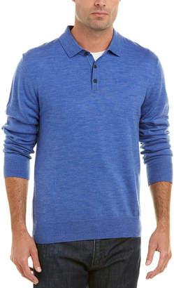 Qi Merino Wool Polo Sweater