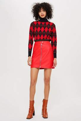 Topshop TALL PU Mini Skirt