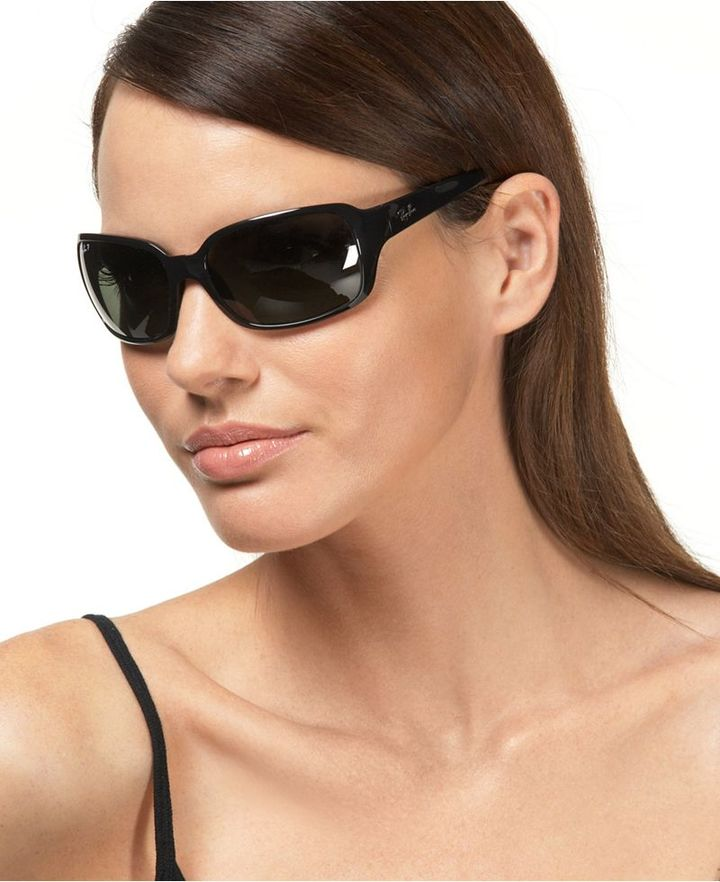 Ray Ban Sunglasses, Polarized Big Glamour Wrap Frames