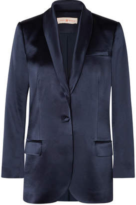 Tory Burch Satin Blazer - Navy