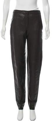 Halston Leather Mid-Rise Pants w/ Tags