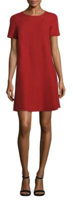 Eileen Fisher Short Sleeve Silk Noil Shift Dress $198 thestylecure.com