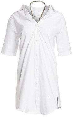 Alexander Wang Women's Wide Open Neck Shirt Dress