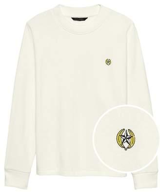 Banana Republic JAPAN ONLINE EXCLUSIVE French Terry Dolman-Sleeve Elephant Graphic Sweatshirt