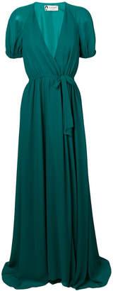 Lanvin maxi wrap dress