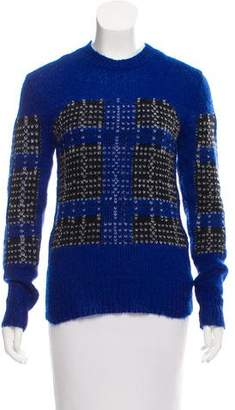 Thakoon Plaid Crew Neck Sweater