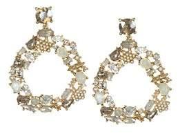 Badgley Mischka Circle Drop Earrings