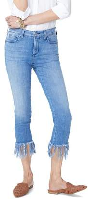 NYDJ Ami High Waist Long Fray Skinny Stretch Ankle Jeans (Capitola)