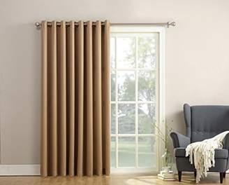 Sun Zero Barrow Extra-Wide Energy Efficient Sliding Patio Door Curtain Panel with Pull Wand