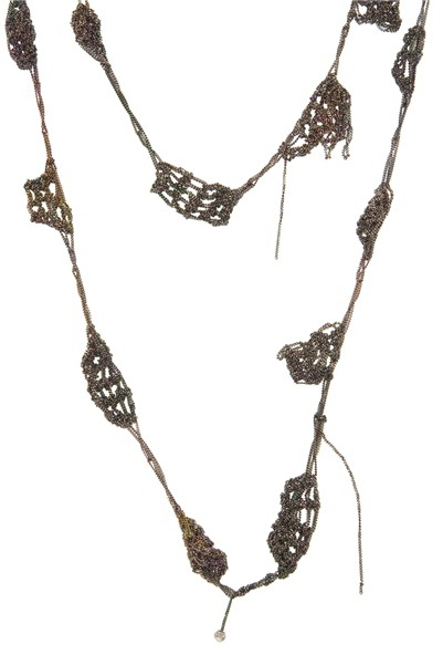 Arielle De Pinto Spaced bead necklace