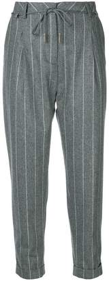 Eleventy pinstripe cropped trousers