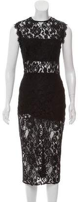 Alexis Lace Sleeveless Midi Dress w/ Tags