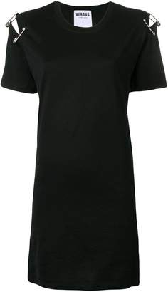 Versus safety pin attached T-shirt dress
