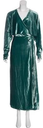 ATTICO Velvet Wrap Dress Velvet Wrap Dress