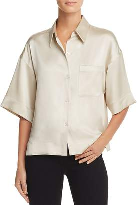 Theory Silk Button Down Shirt