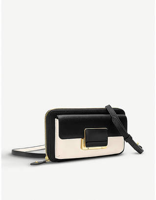 Folli Follie Lady Riviera leather zip-around wallet with strap