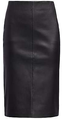 Saks Fifth Avenue Women's COLLECTION Leather Pencil Skirt