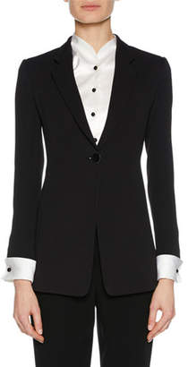 Giorgio Armani Notched-Collar One-Button Jacket