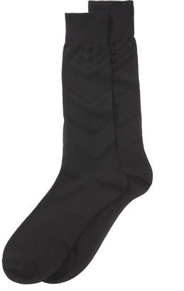 Perry Ellis Men's Luxury Textured Dress Socks