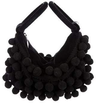 Lulu Guinness Pom-Pom Embellished Handle Bag