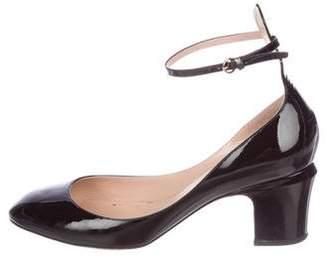 Valentino Patent Leather Round-Toe Pumps