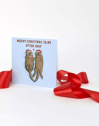Central 23 Exclusive Otter Half Holidays Card