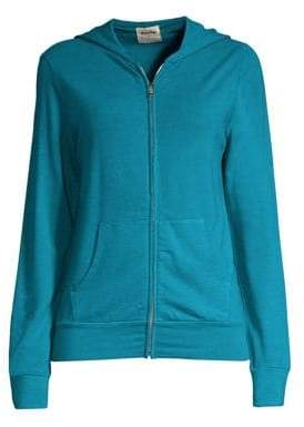 Monrow Women's Surf Lodge Zip-Up Hoodie - Ash - Size XS