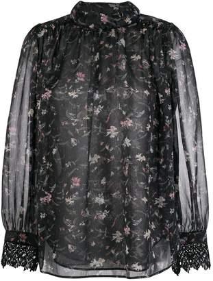 Steffen Schraut chiffon floral blouse