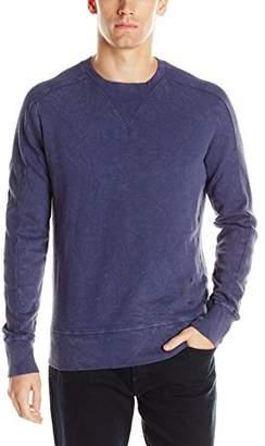 Jet Lag Men's Ribbed Crew Neck Washed Pullover Sweatshirt