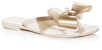 1d5bd34c5c5f Melissa Women s Harmonic Bow III Glitter Flip-Flops