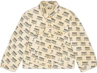 Gucci invite stamp denim jacket