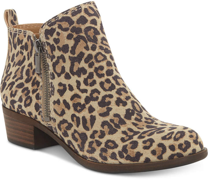 Lucky Brand Women's Basel Leopard Print Booties, Created For Macy's Women's Shoes