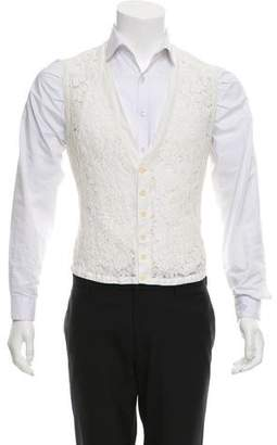 Romeo Gigli Joyce by Floral Lace Suit Vest